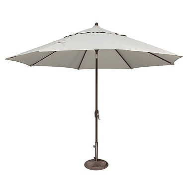 SimplyShade Lanai 11' Market Umbrella; Sunbrella / Natural