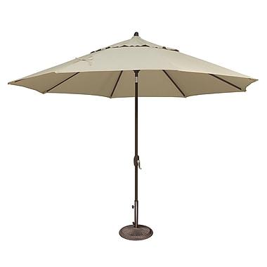 SimplyShade Lanai 11' Market Umbrella; Sunbrella / Antique Beige