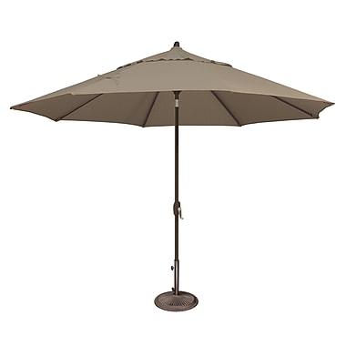 SimplyShade Lanai 11' Market Umbrella; Sunbrella / Cocoa