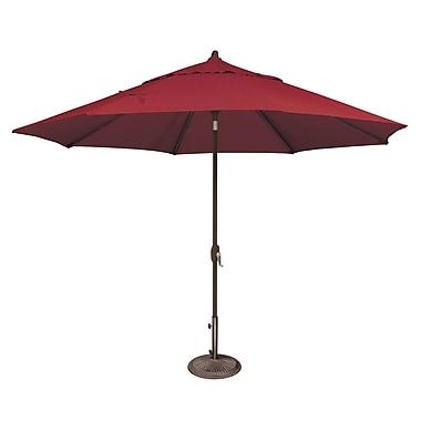 SimplyShade Lanai 11' Market Umbrella; Solefin / Really Red