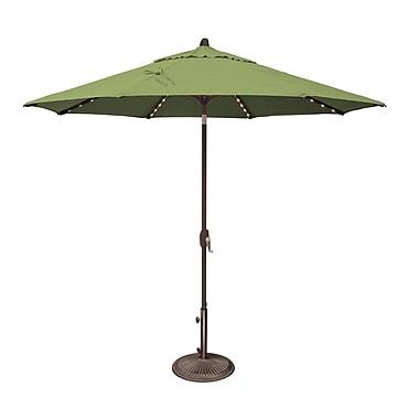 SimplyShade Lanai 9' Lighted Umbrella; Sunbrella / Ginkgo