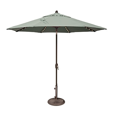 SimplyShade Lanai 9' Lighted Umbrella; Sunbrella / Spa