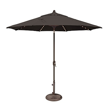 SimplyShade Lanai 9' Lighted Umbrella; Sunbrella / Black