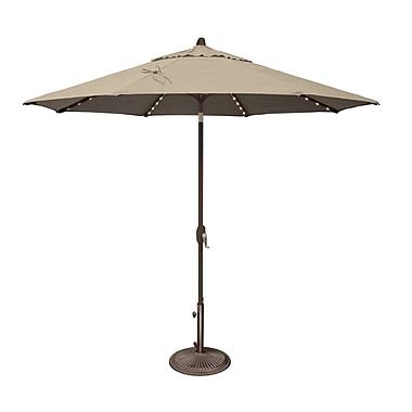 SimplyShade Lanai 9' Lighted Umbrella; Solefin / Beige