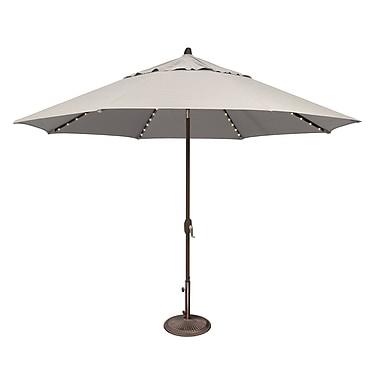 SimplyShade Lanai 11' Lighted Umbrella; Sunbrella / Natural