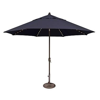 SimplyShade Lanai 11' Lighted Umbrella; Sunbrella / Navy