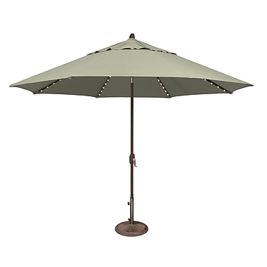SimplyShade Lanai 11' Lighted Umbrella; Sunbrella / Spa