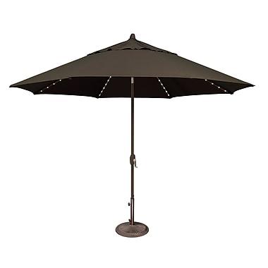 SimplyShade Lanai 11' Lighted Umbrella; Sunbrella / Black