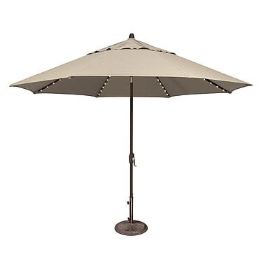SimplyShade Lanai 11' Lighted Umbrella; Solefin / Beige