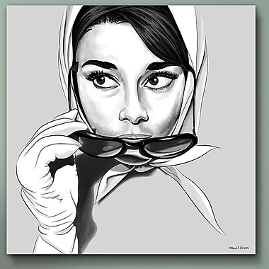 Maxwell Dickson Cat Eyes Audrey Graphic Art on Canvas; 30'' x 30''
