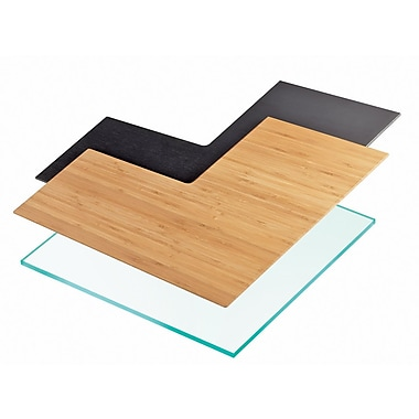 Cal-Mil 16'' Angled Shelf; Bamboo
