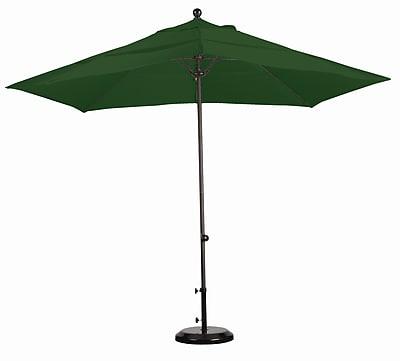 California Umbrella 11' Market Umbrella; Sunbrella A Forest Green