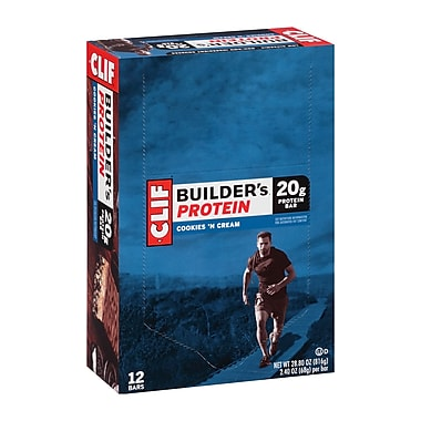 Clif Builder's Protein Bar Cookies & Creme 2.4 oz, 12 Count