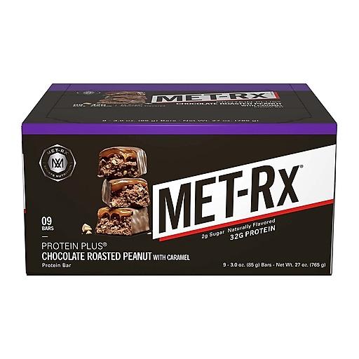 MetRX Protein Plus Chocolate Roasted Peanut, 3 oz, 9 Count