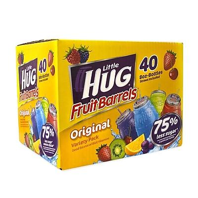 Little Hug Fruit Barrels Variety Pack, 8 oz, 40 Count