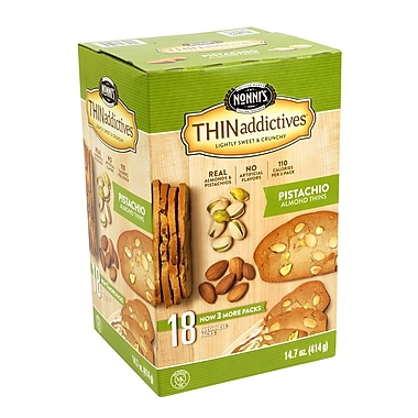 THINaddictives Pistachio Almond Thins, 18 Count