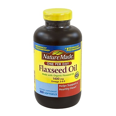 Nature Made Flaxseed Oil Softgels, 1400 mg, 300 Count