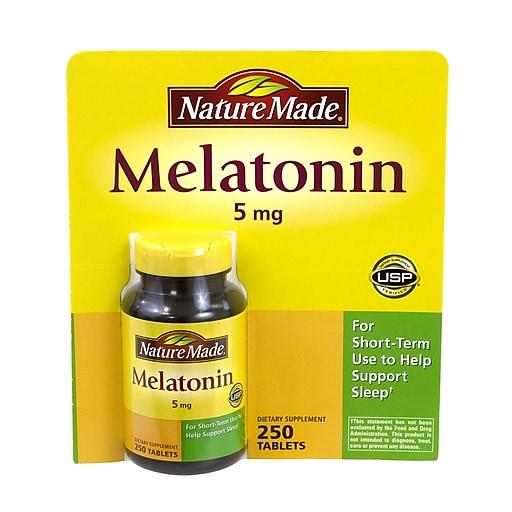 Nature Made Melatonin, 5mg, 250 Count (2048)