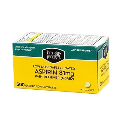 Berkley & Jensen Bulk Low Dose Safety Coated Aspirin, 81mg, 500 Count