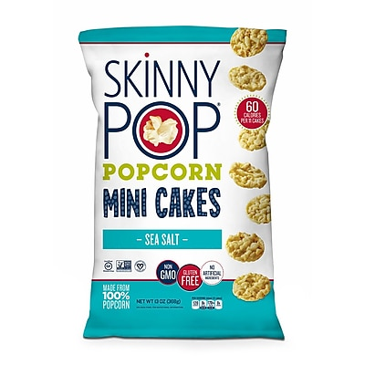 Skinny Pop Popcorn Mini Cakes Sea Salt, 13 oz 2678454