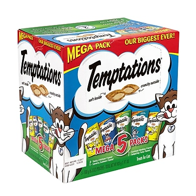 Temptations Cat Treats Mega Packs Variety, 6.3 oz, 5 Count