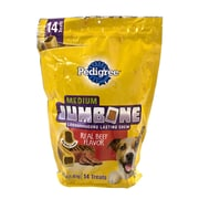 Pedigree Medium Jumbone Beef Flavored Dog Treats, 3 lb
