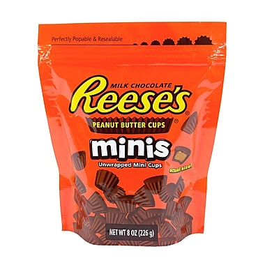 Reese's Peanut Butter Cups Minis,8 oz, 4 Count