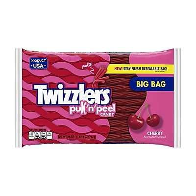 Twizzlers PULL 'N' PEEL Cherry Candy, 28 oz, 2 Count