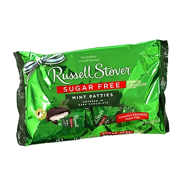 Russell Stover Sugar-Free Mint Patties, 10 oz, 2 Pack