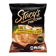 Stacy's Pita Chips Parmesan Garlic & Herb, 1.5 oz, 24 Count