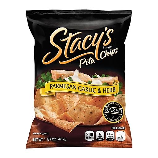 Stacy's Pita Chips Parmesan Garlic & Herb, 1.5 oz, 24 Count