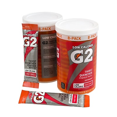 Gatorade G2 Low Calorie Powder Packs Fruit Punch, 8 Pack, 8 Count