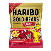 Haribo Gold-Bears Cherry, 4 oz, 12 Count