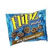 Flipz Milk Chocolate Covered Pretzels Mini Bags, 2 oz, 12 Count