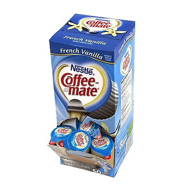Coffee-Mate Singles French Vanilla, 50 Count, 4 Pack