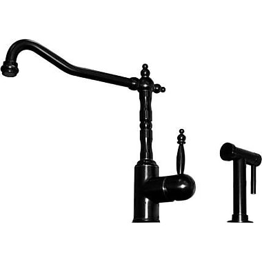 Whitehaus Collection Jem Single Handle Faucet w/ Swivel Spout and Side Spray