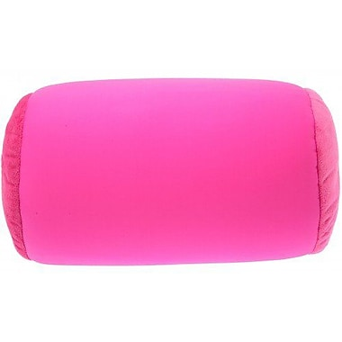 Deluxe Comfort Microbead Neck Roll Bolster Pillow; Rosa Red Hot Pink