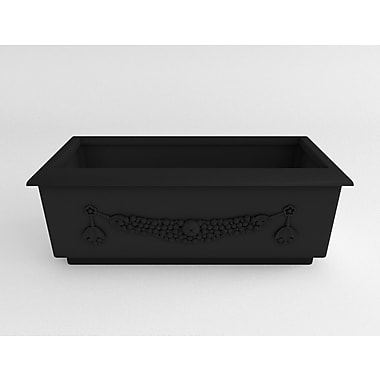 TerraCastProducts Roma Resin Planter Box; Ash Granite