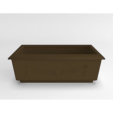 TerraCastProducts Roma Resin Planter Box; Mocha