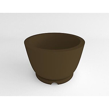 TerraCastProducts Resin Pot Planter; Mocha