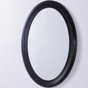 Bellaterra Home Oval PVC Frame Wall Mirror; Espresso