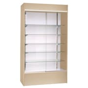 KC Store Fixtures Wall Display Case w/ LED Light; Maple
