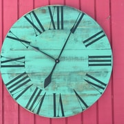 Essex Hand Crafted Wood Products Oversized 28'' Dudley Painted Wood Wall Clock