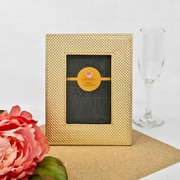 FashionCraft Wide Border Metallic Picture Frame; Metallic Gold