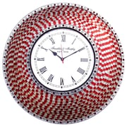 DecorShore 22.5'' Silent Wall Clock; Red