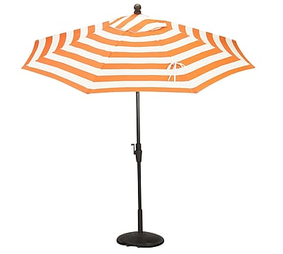 Bellini Resort 9' Market Umbrella; Orange / White WYF078278749614