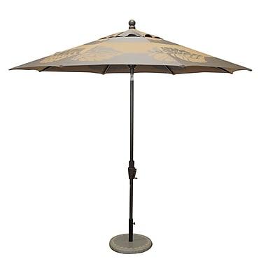 Bellini Resort 9' Market Umbrella; Taupe / Brown