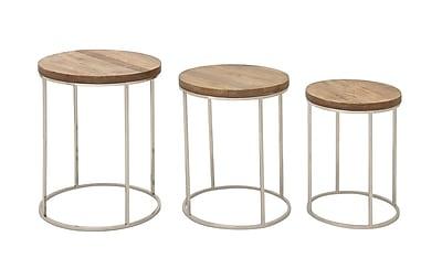 Cole & Grey 3 Piece End Table Set