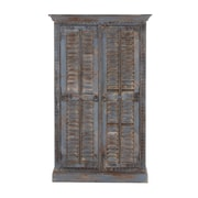 Cole & Grey 2 Door Wood Armoire