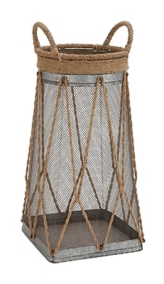 Cole & Grey Metal and Jute Basket